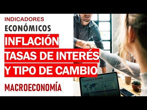 Indicadores económicos: inflación, tasas de interés y tipo de cambio