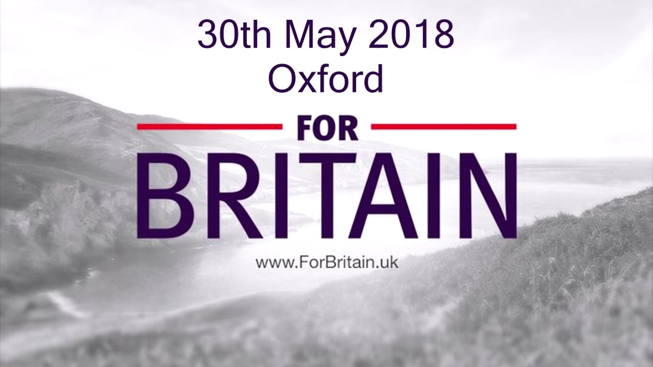 For Britain Anne Marie Waters Oxford 2018