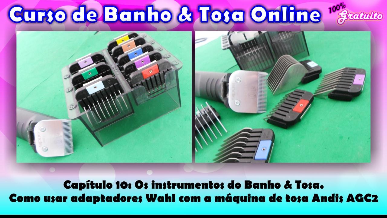 d5b71a3a1 Como usar adaptadores Wahl com a máquina de tosa Andis AGC2. - YouTube