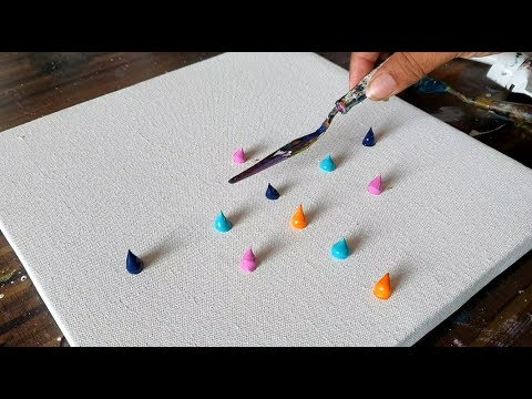 Colorful Abstract Landscape Painting/Easy for Beginners/Satisfying/Demo/Daily Art Therapy/Day #086