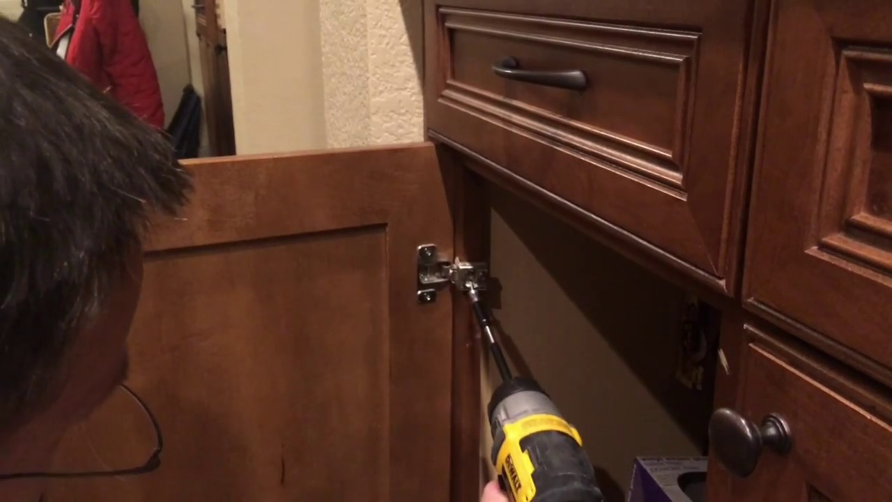 How to fix a stripped screw on a cabinet door YouTube