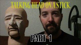 Head Stick Part Making Ventriloquist Dummy