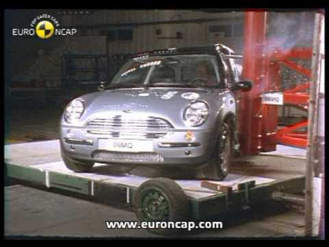 euro ncap mini one 2002 crash test youtube. Black Bedroom Furniture Sets. Home Design Ideas