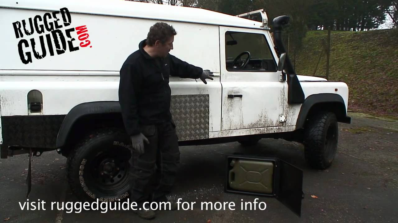 Fitting Jerry Can Side Lockers To A 110 Defender Hard Top