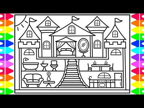 How to Draw a CASTLE for Kids 💜💖💛CASTLE Drawing for Kids | Castle Coloring Pages for Kids