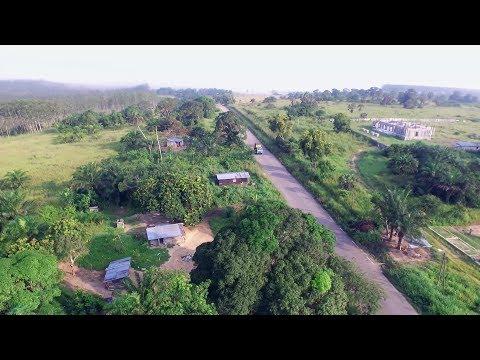 Vue Aérienne Sur Madingou - République du Congo – Afrique Centrale