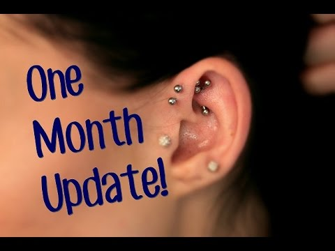 Rook Piercing One Month Update Youtube