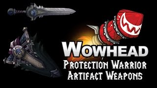 Protection Warrior Artifact Weapons - Scale of the Earth-Warder  & Scaleshard