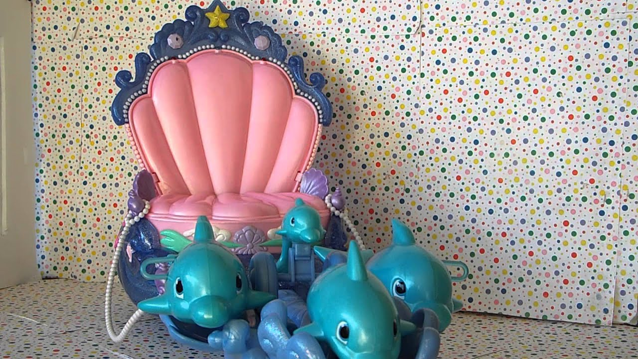 Disney Little Mermaid Shimmering Lights Dolphin Chariot