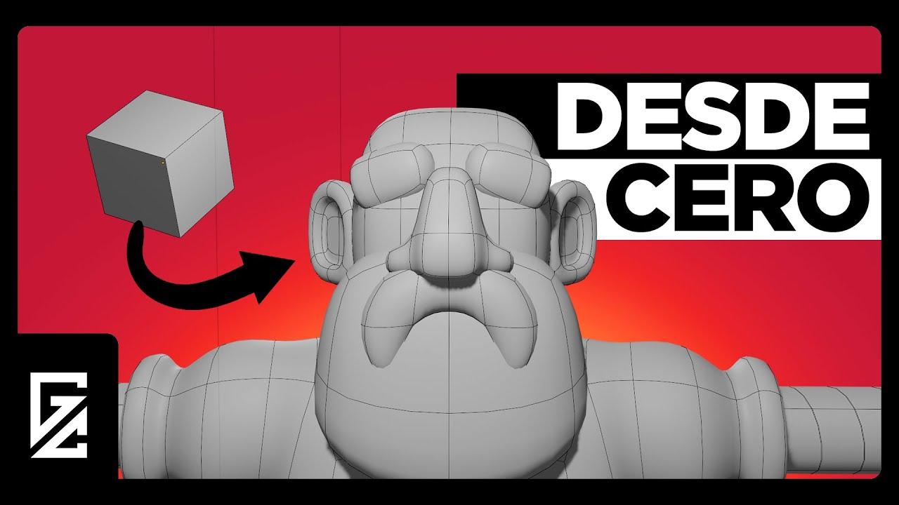 Download ¿Cómo hacer un personaje 3D? | Tutorial de Modelado en Blender |
