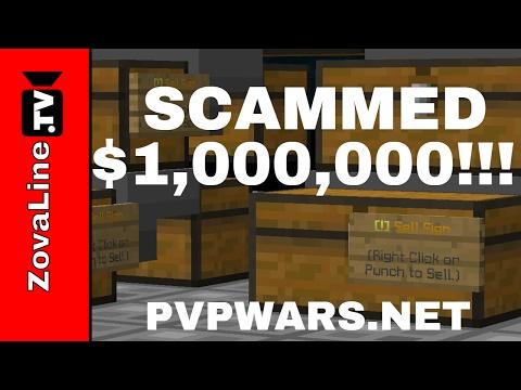 ULTIMATE MONEY SCAM GLITCH! We Got Fooled!! PvPWars.Net Skyblock Ep #10