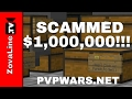 ULTIMATE MONEY SCAM GLITCH! We Got Fooled!! PvPWars.Net Skyblock Ep #10