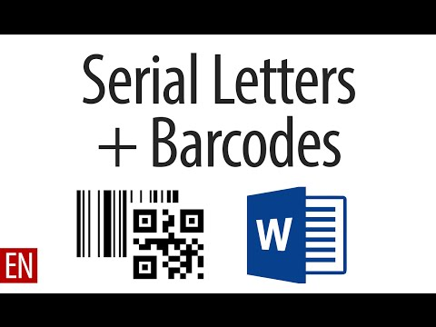 Serial Letters with Barcodes in Microsoft Word - YouTube