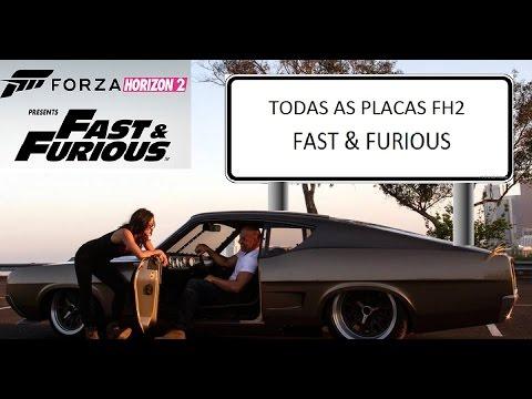 Forza Horizon 2 Fast & Furious - TODAS AS 20 PLACAS -