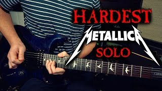 Learning the Hardest Metallica Solo