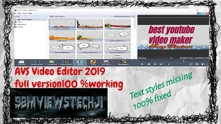aVS Video Editor 2019  full version  100 working  no text missing  best youtube video maker