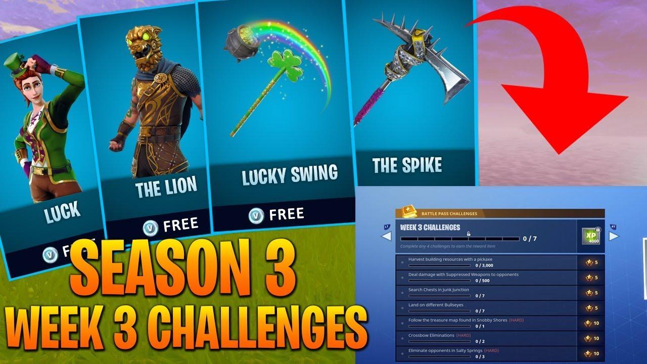 New Fortnite Season 3 Week 3 Challenges Season 3 Week 3 Dlc