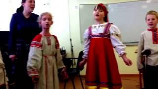 Урок фольклорной студии школы №547.