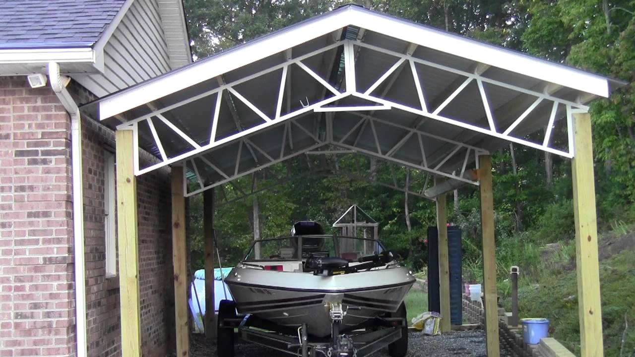 & Steel Trusses Boat Covers and Carports - YouTube