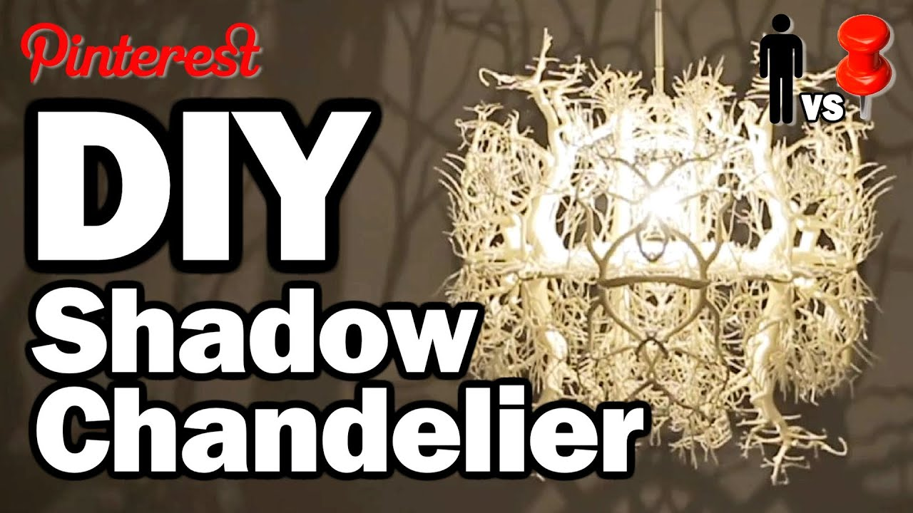 Forest Chandelier Diy: DIY Shadow Chandelier - MAN VS PIN #1,Lighting