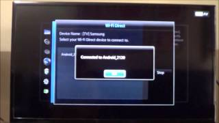 Set up Screen Mirroring : Samsung Smart TV and HTC One