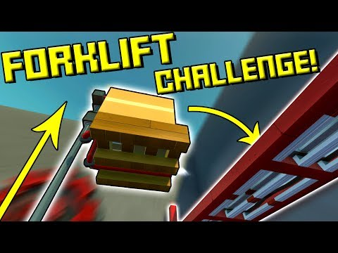 FORKLIFT PALLET CHALLENGE! - Scrap Mechanic Multiplayer Monday Ep49