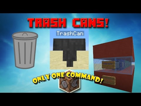 I made an Only One Command Creation! (Trash Cans in Minecraft)