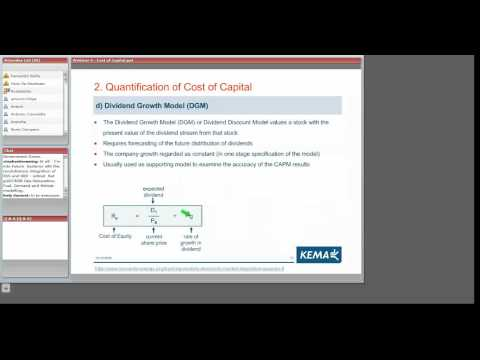 Training Module on Electricity Market Regulation - SESSION 5 - Cost of Capital