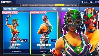 "NEW ""Dynamo + Masked Fury"" SKINS in Fortnite! - NEW Fortnite UPDATE! (Fortnite Battle Royale)"