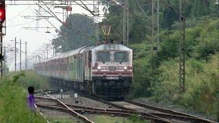 Triple Tone Non-stop Honking Suvidha Express Skipping At Full 120Kmph..!!