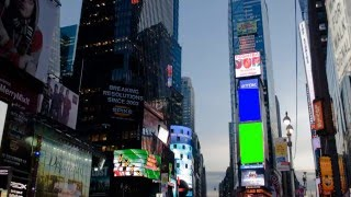 Times Square New York Green Screen Royalty Free Footage