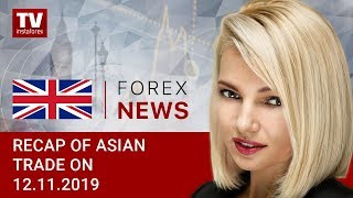 InstaForex tv news: 12.11.2019: USD flat ahead of Trump's speech (USDX, JPY, USD, AUD)