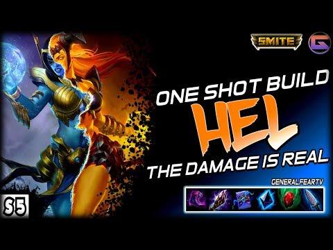 Smite - ONE SHOT BUILD HEL MID RANKED Ft. MajorFear