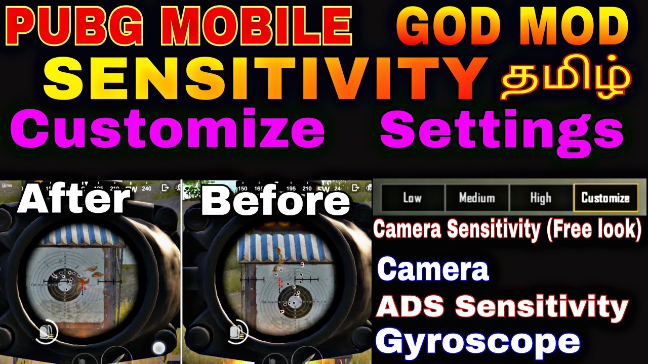 Pubg MOBILE Sensitivity GOD MOD Customize Sensitivity Settings in Tamil