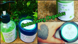 *AMAZON BEST SELLER*   Greenberry Organics Review   Mud Ash 3-in-1 Face Care   Green Clay Face Wash