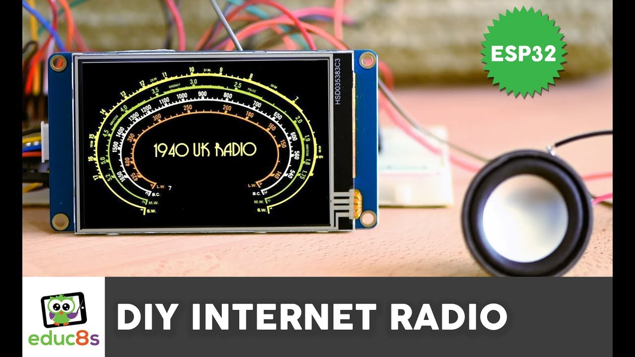 ESP32 Internet Radio project with A 3 5