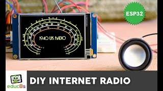 ESP32 Internet Radio project with A 3.5'' Nextion Display