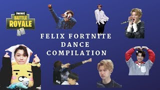 FELIX FORTNITE DANCE COMPILATION FT. OTHER STRAY KIDS MEMBERS (WEIRD DANCES INCOMING)