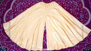 Umbrella cut full gher palazzo/ long divided skirt/gharara/ cutting and stitching..