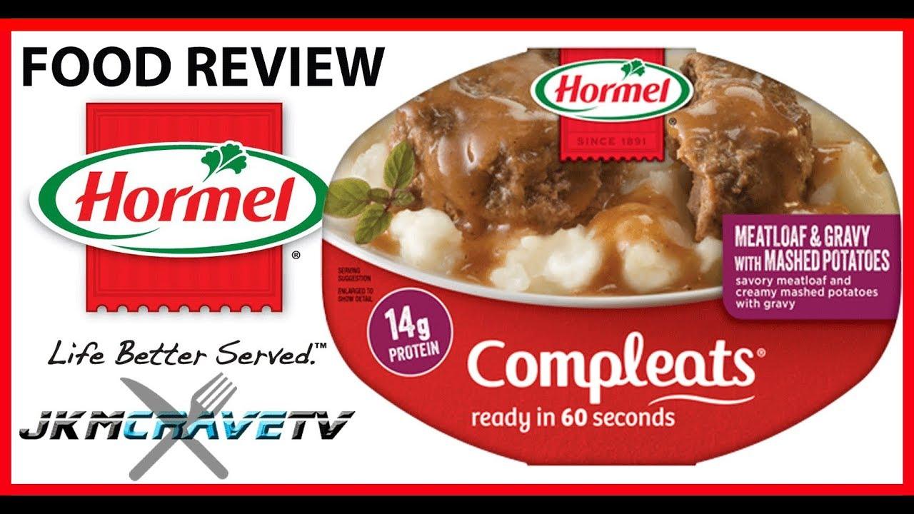 Hormel Meatloaf With Gravy Mashed Potatoes Taste Test Review Jkmcravetv Youtube
