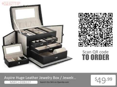 Aspire Huge Leather Jewelry Box / Jewelry Chest From Opentip.com