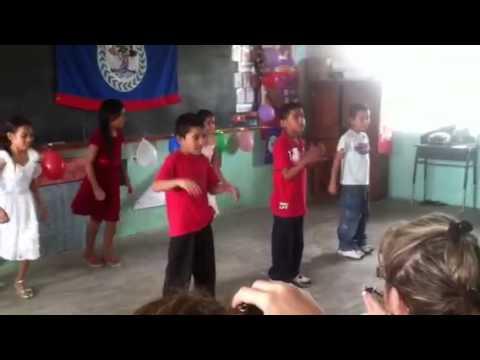 Children of Belize dancing for us.