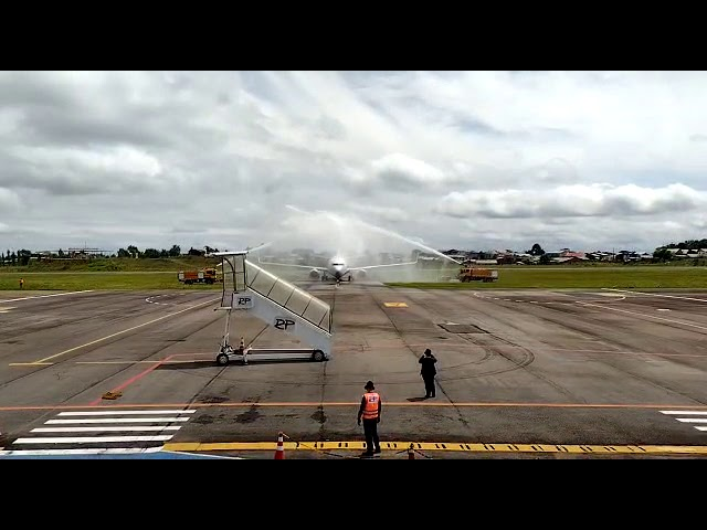 Voo da Gil chegando no aeroporto de Caxias do Sul, no Rio Grande do Sul