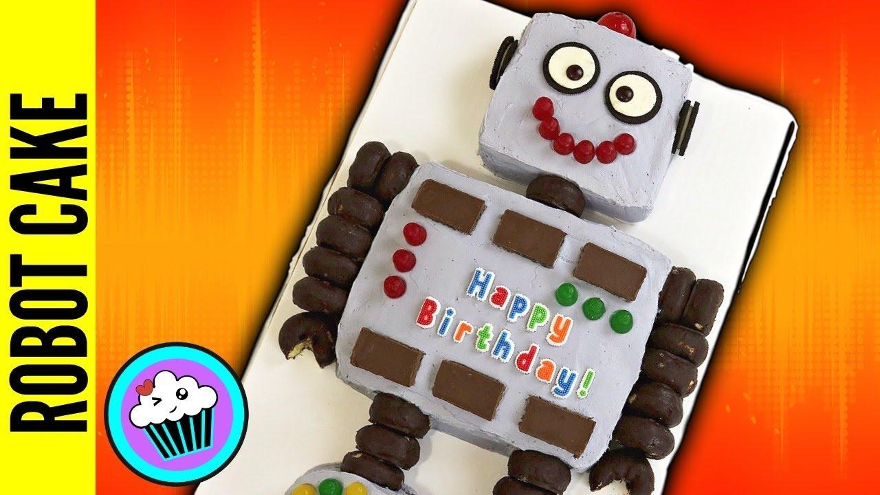 Super Easy Robot Birthday Cake Pinch Of Luck Youtube