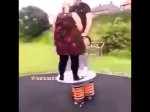 Woman & Man On See-Saw FAIL