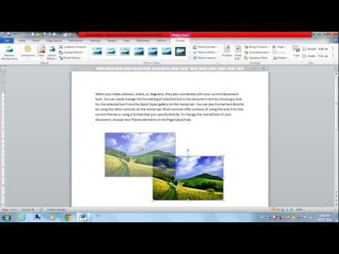 How To Move A Picture In MS Word