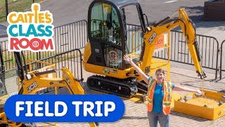Let's Play At Diggerland | Caitie's Classroom | Construction Vehicles For Kids