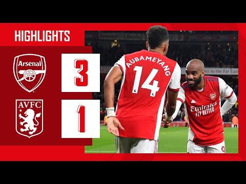 HIGHLIGHTS | Arsenal vs Aston Villa (3-1) | Partey, Aubameyang, Smith Rowe
