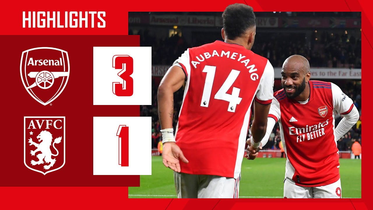 Download HIGHLIGHTS | Arsenal vs Aston Villa (3-1) | Partey, Aubameyang, Smith Rowe