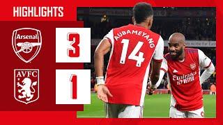 HIGHLIGHTS   Arsenal vs Aston Villa (3-1)   Partey, Aubameyang, Smith Rowe